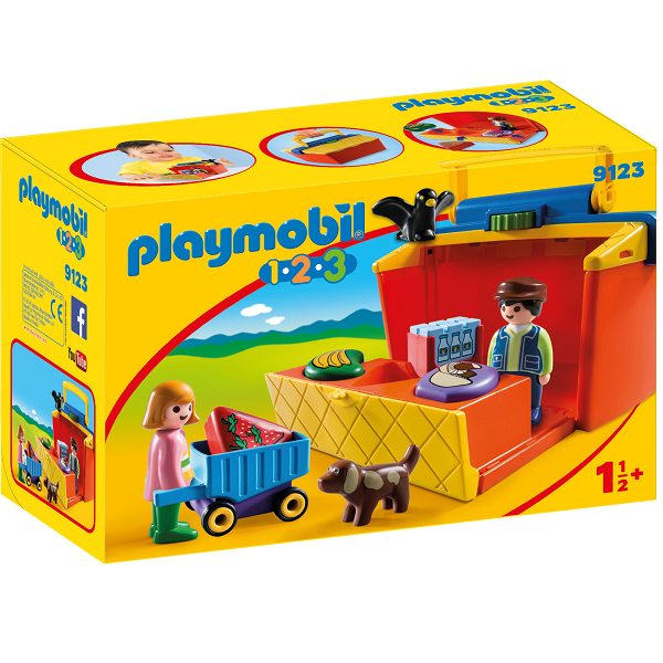 Image of 1.2.3 Transportabel Markedsbod - PL9123 - PLAYMOBIL 1.2.3 (PL9123)