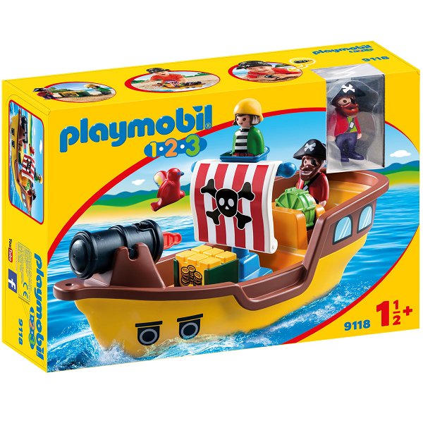 Image of   1.2.3 Piratskib - PL9118 - PLAYMOBIL 1.2.3