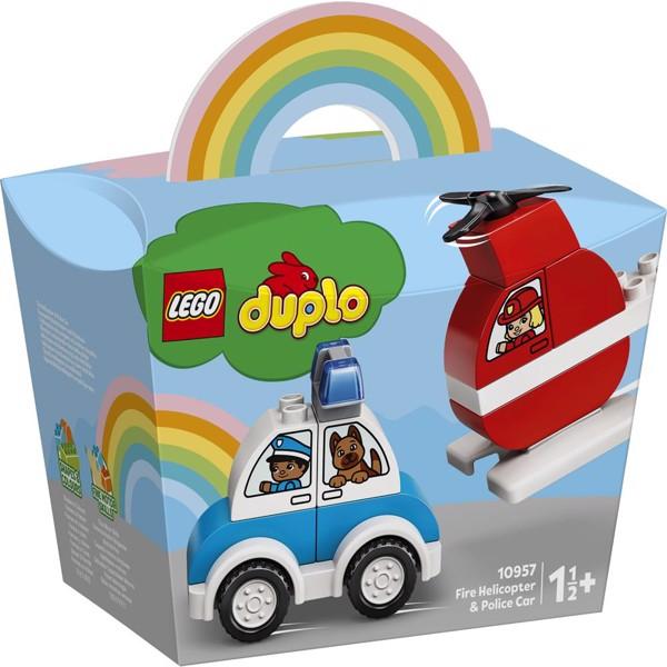 Image of Brandslukningshelikopter og politibil - 10957 - LEGO DUPLO (10957)