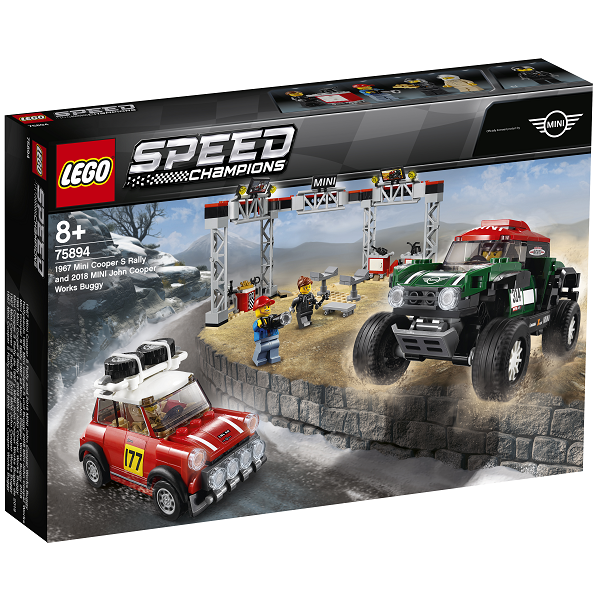 Image of   1967 Mini Cooper S Rally og 2018 MINI John Cooper Works Buggy - 75894 - LEGO Speed Champions