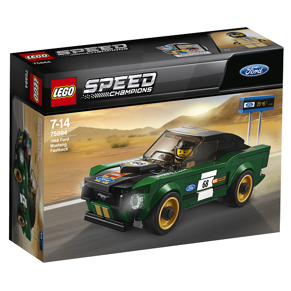 Image of 1968 Ford Mustang Fastback - 75884 - LEGO Speed Champions (75884)