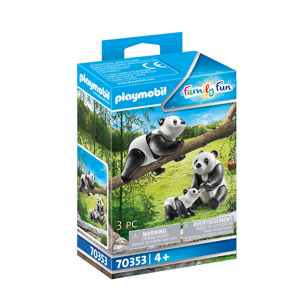 Image of 2 pandabjørne med baby - PL70353 - PLAYMOBIL Family Fun (PL70353)