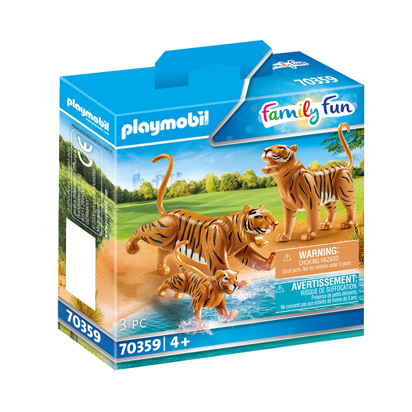 Image of 2 tigre med baby - PL70359 - PLAYMOBIL Family Fun (PL70359)