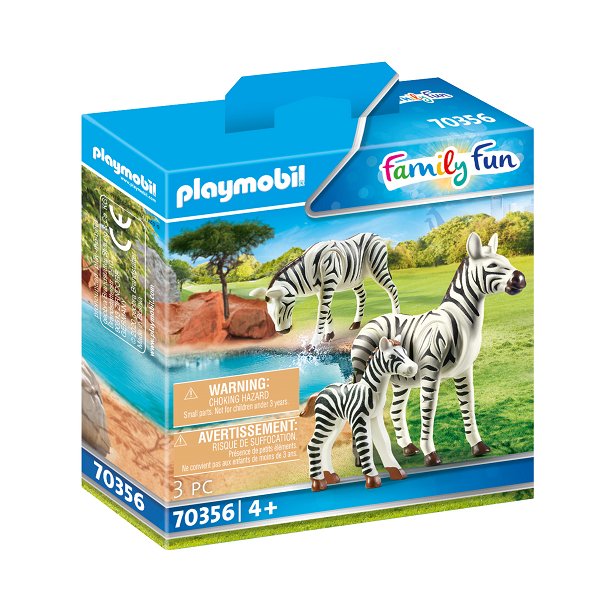 Image of   2 zebraer med baby - PL70356 - PLAYMOBIL Family Fun