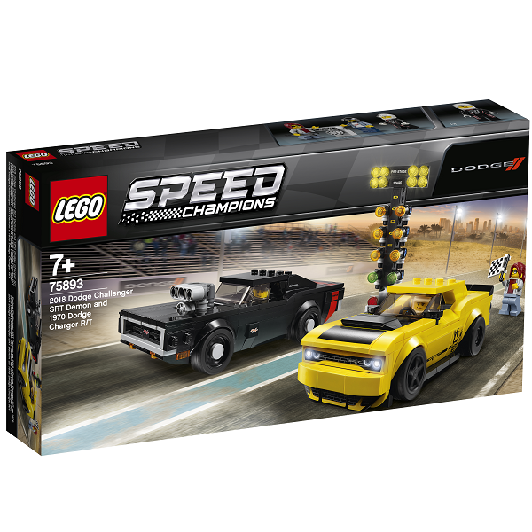 Image of 2018 Dodge Challenger SRT Demon og 1970 Dodge Charger R/T - 75893 - LEGO Speed Champions (75893)