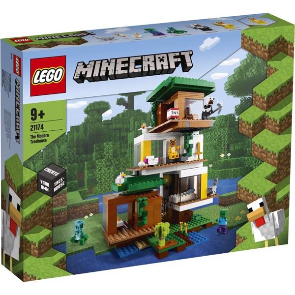 Image of Det moderne trætophus - 21174 - LEGO Minecraft (21174)