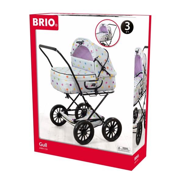 BRIO Lysegrå Med Prikker