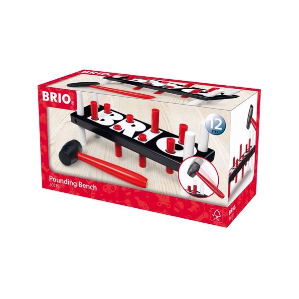 Hammerbræt, sort - 30515 - BRIO Toddler