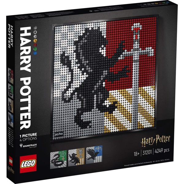 Image of Harry Potter Hogwarts-våbenskjolde - 31201 - LEGO Art (31201)
