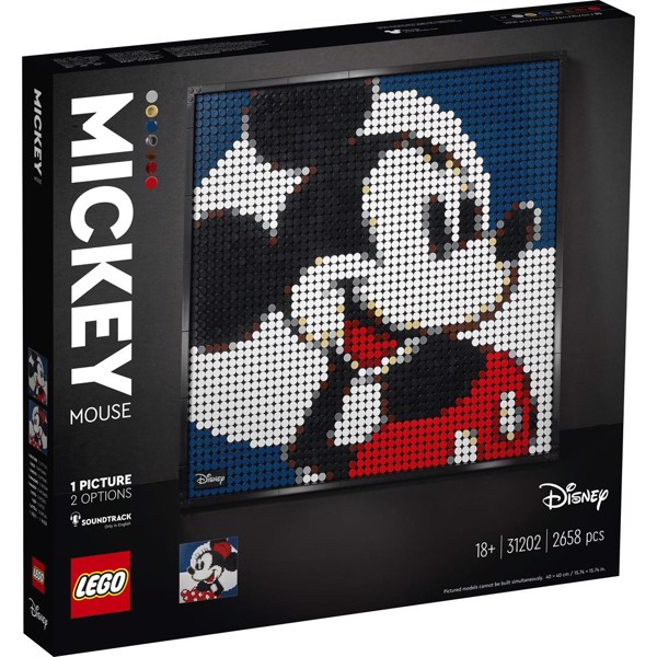 Image of Disneys Mickey Mouse - 31202 - LEGO Art (31202)