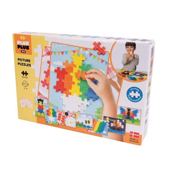 Image of Picture Puzzel Basic - 60 pcs - Plus-Plus BIG (PP3280)