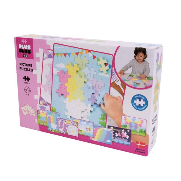 Image of Picture Puzzel Pastel - 60 pcs - Plus-Plus BIG (PP3281)