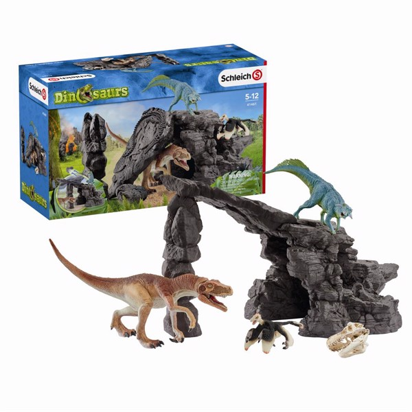 Image of Dino set med grotte - Schleich (MAK-41461)