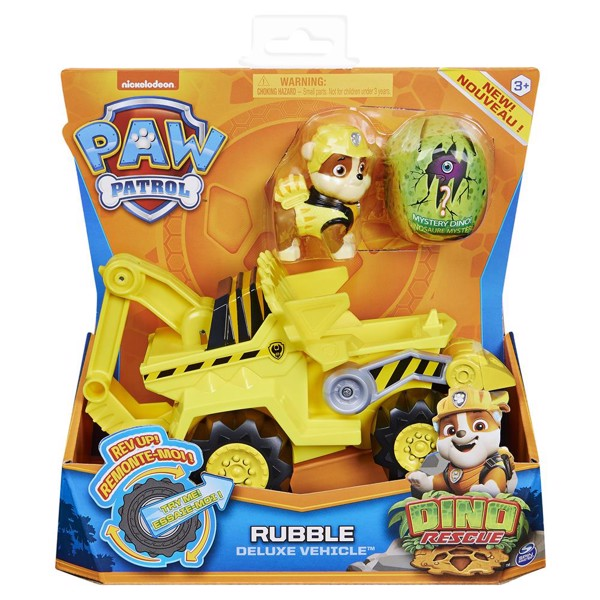 Image of Dino Deluxe Vehicles Rubble - Paw Patrol (MAK-6059519)