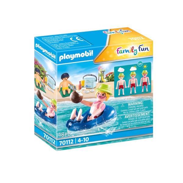 Image of Badegæst med badering - PL70112 - PLAYMOBIL Family Fun (PL70112)