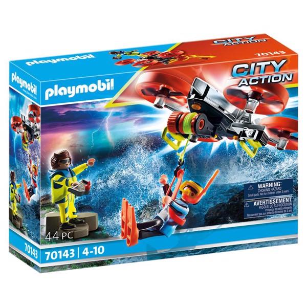 Image of Skibsredning: Dykkerbjergning med redningsdrone - PL70143 - PLAYMOBIL City Action (PL70143)