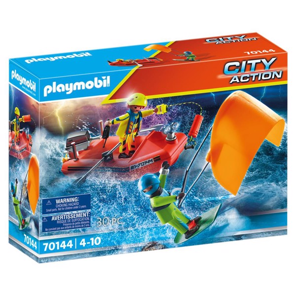 Image of Skibsredning: Kitesurferredning med båd - PL70144 - PLAYMOBIL City Action (PL70144)
