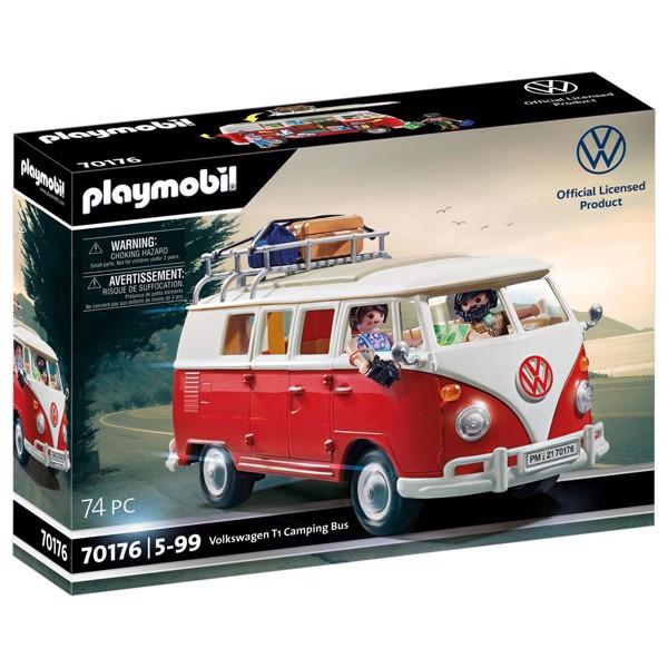 Image of Volkswagen T1 Camping Bus - PL70176 - PLAYMOBIL Biler (PL70176)