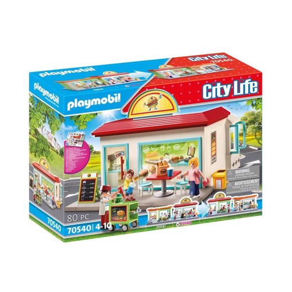 Image of Min burgerbutik - PL70540 - PLAYMOBIL City Life (PL70540)