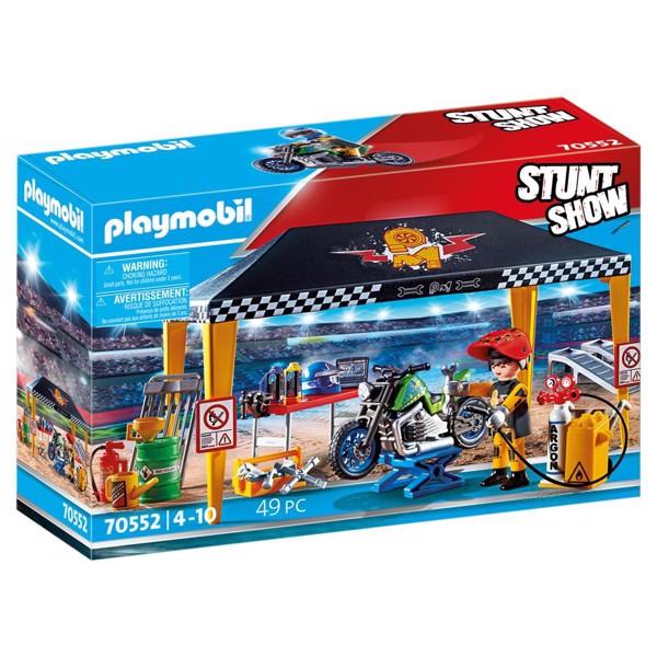 Image of Stuntshow Værkstedstelt - PL70552 - PLAYMOBIL Stunt Show (PL70552)