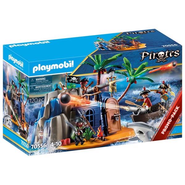 Image of Piratø med skatteskjul - PL70556 - PLAYMOBIL Pirates (PL70556)