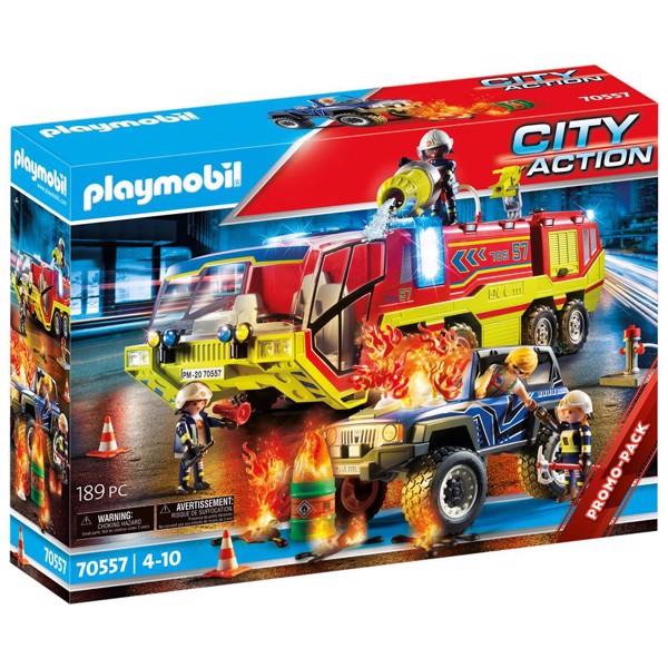 Image of Brandvæsensindsats med slukningsfartøj - PL70557 - PLAYMOBIL City Action (PL70557)