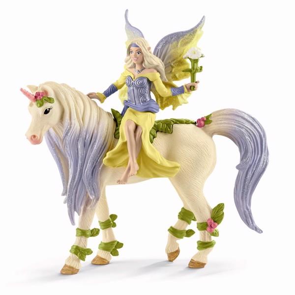 Image of Fairy Sera with blossom unicorn - Schleich (MAK-70565)