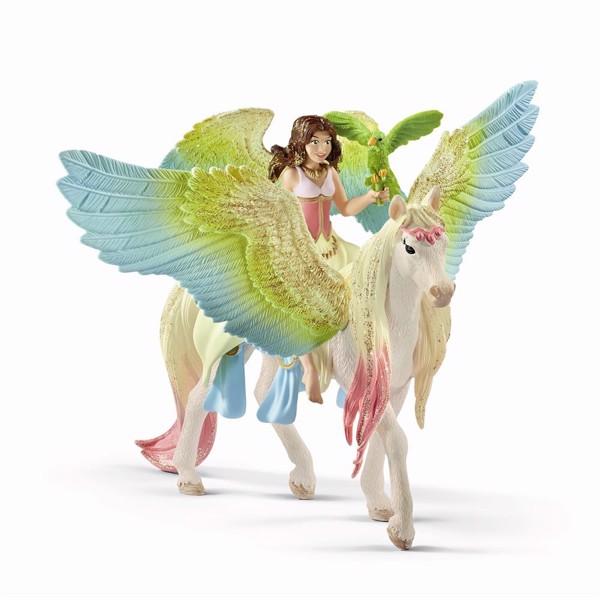 Image of Fairy Surah with glitter Pegasus - Schleich (MAK-70566)