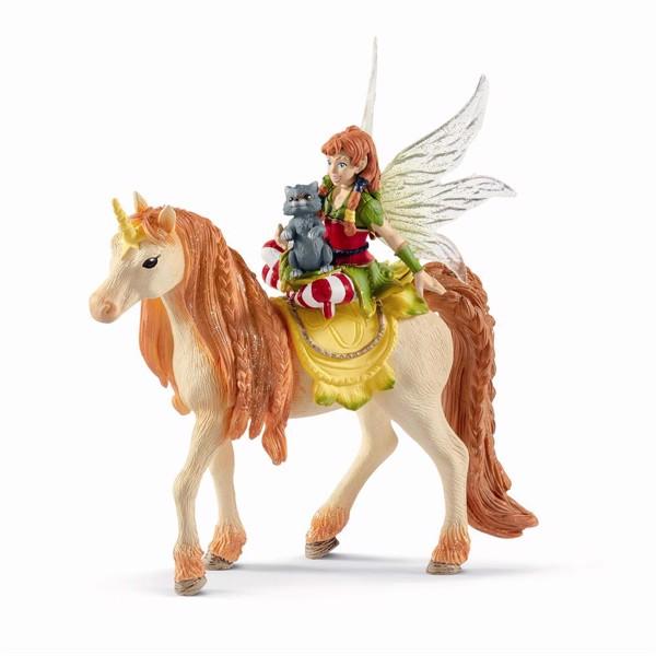 Image of Fairy Marween with glitter unicorn - Schleich (MAK-70567)