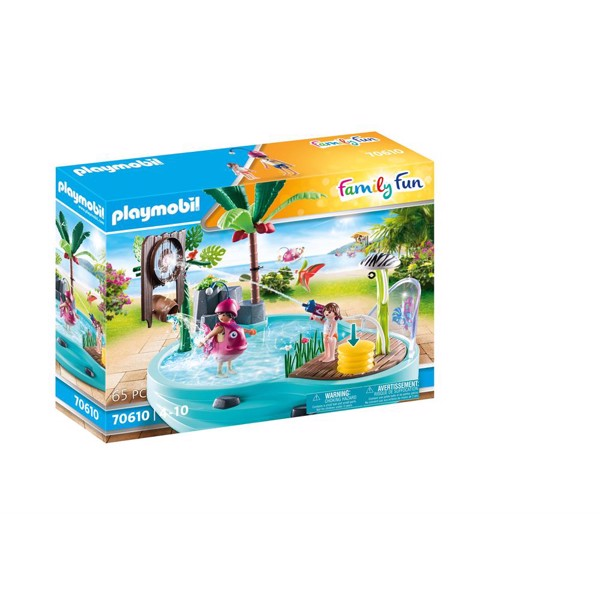 Image of Sjov pool med vandpistol - PL70610 - PLAYMOBIL Family Fun (PL70610)