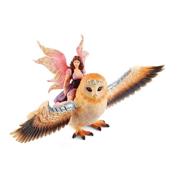 Image of Fairy in Flight on Glam Owl - Schleich (MAK-70713)