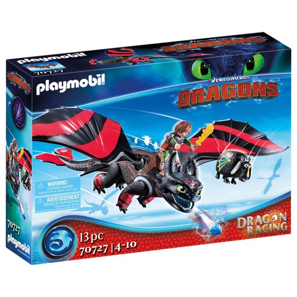 Image of Dragon Racing: Hiccup and Toothless - PL70727 - PLAYMOBIL Dragons (PL70727)