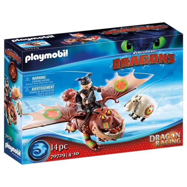 Image of Dragon Racing: Fishlegs and Meatlug - PL70729 - PLAYMOBIL Dragons (PL70729)