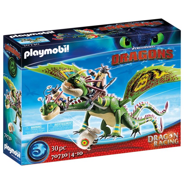 Image of Dragon Racing: Ruffnut and Tuffnut with Barf and Belch - PL70730 - PLAYMOBIL Dragons (PL70730)