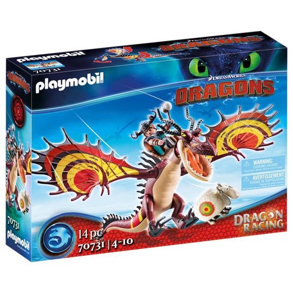 Image of Dragon Racing: Snotlout and Hookfang - PL70731 - PLAYMOBIL Dragons (PL70731)