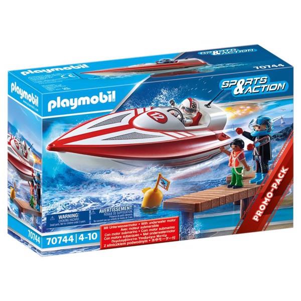 Image of Speedbåd med undervandsmotor - PL70744 - PLAYMOBIL Sports and action (PL70744)