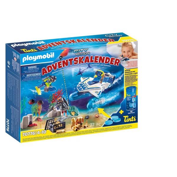 Image of Police Diving Mission julekalender - PL70776 - PLAYMOBIL City Action (PL70776)