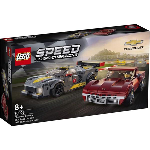 Image of Chevrolet Corvette C8.R-racerbil og 1968 Chevrolet Corvette - 76903 - LEGO Speed Champions (76903)