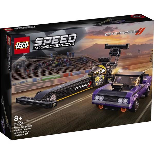Image of Mopar Dodge//SRT Top Fuel-dragster og 1970 Dodge Challenger T/A - 76904 - LEGO Speed Champions (76904)