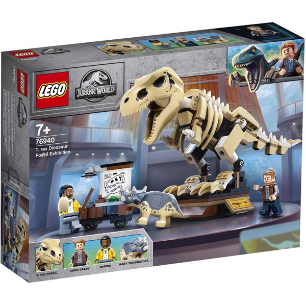 Image of T. rex Dinosaur Fossil Exhibition - 76940 - LEGO Jurassic World (76940)