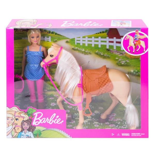 Image of Dukke og hest (Blonde) - Barbie (MAK-960-0203)