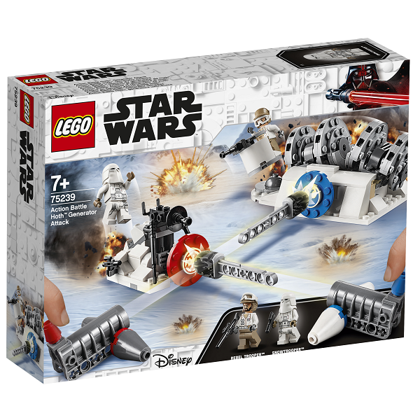 Image of Action Battle - Generatorangreb på Hoth - 75239 - LEGO Star Wars (75239)