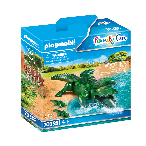 Image of   Alligator med babyer - PL70358 - PLAYMOBIL Family Fun