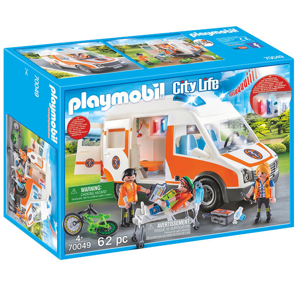 Image of Ambulance med blinklys - PL70049 - PLAYMOBIL City Life (PL70049)