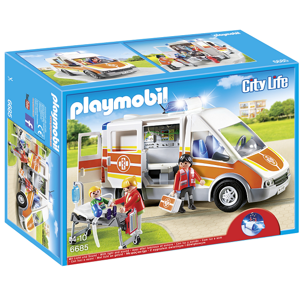 Image of   Ambulance med lys og sirene - PL6685 - PLAYMOBIL City Life