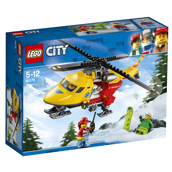 Image of   Ambulancehelikopter - 60179 - LEGO City