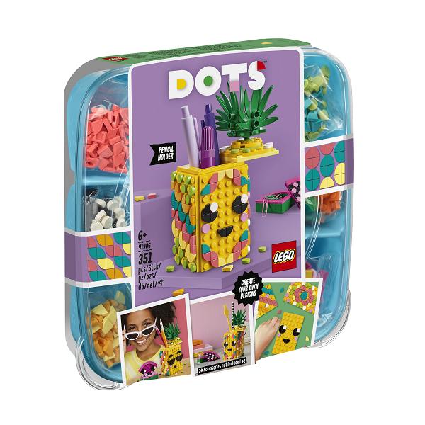 Image of   Ananas-blyantsholder - 41906 - LEGO DOTs