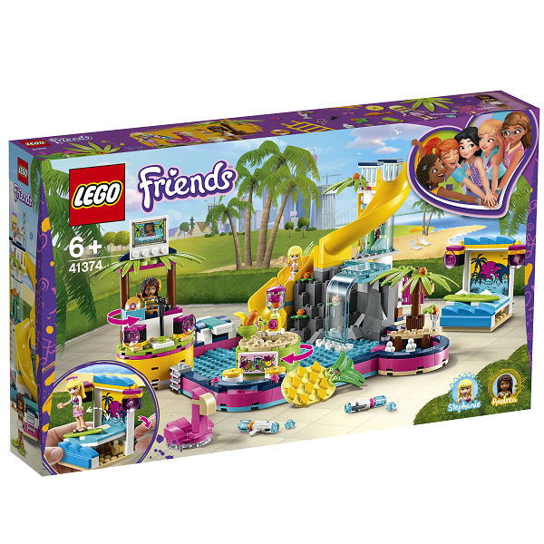 Image of Andreas poolparty - 41374 - LEGO Friends (41374)