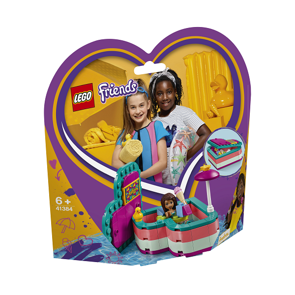 Image of   Andreas sommerhjerteæske - 41384 - LEGO Friends