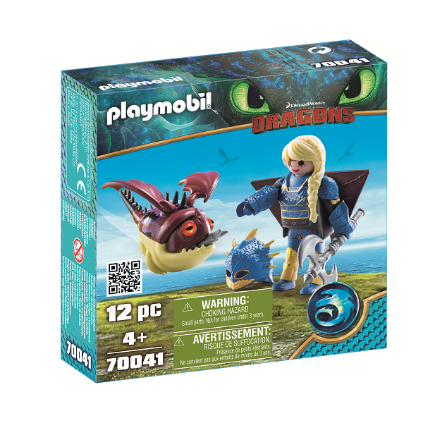 Image of   Astrid i flyveuniform og Ædedolk - PL70041 - PLAYMOBIL Dragons
